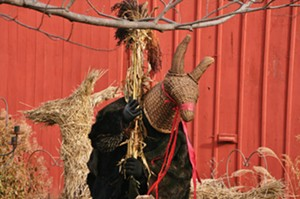 Youngsters also will enjoy a man dressed as Julbock, the Christmas goat, based on a Scandinavian legend. - PHOTO COURTESY OF BISHOP HILL STATE HISTORIC SITE