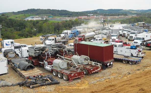 A fracking site on the Marcellus Shale, located in the eastern United States covering parts of Ohio, Pennsylvania, New York and most of West Virginia. - PHOTO COURTESY OF U.S. GEOLOGICAL SURVEY