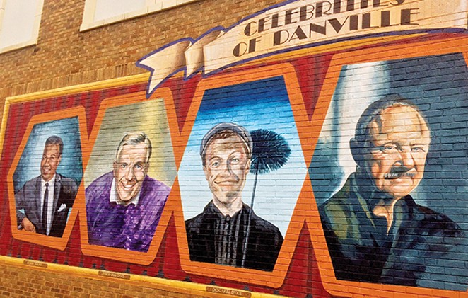 Bobby Short, Jerry and Dick Van Dyke, Gene Hackman, Donald O'Connor and Helen Morgan are just a few of Danville's hometown heroes. They're featured in the Celebrities of Danville mural by artist Andy Goretski at 200 N. Vermilion St. - PHOTO BY DIANNE CROWN