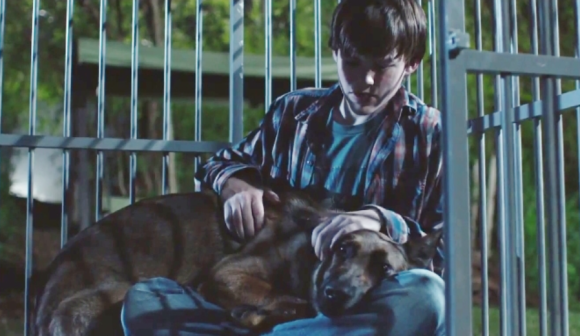 "Justin (Josh Wiggins) comforts his new best friend in ""Max."" - COURTESY WARNER BROS."