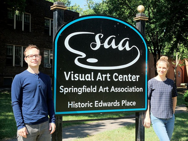 James Pepper Kelly of Chicago and German-born Astrid Kaemmerling are both in the midst of six-week stays, during which they are creating new work relating to the Enos Park neighborhood or Springfield as a whole. - PHOTO COURTESY SPRINGFIELD ART ASSOCIATION