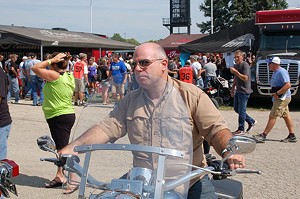 Sen. Sam McCann, pictured here at the recent Springfield Mile, has spent more than $60,000 for an SUV.
