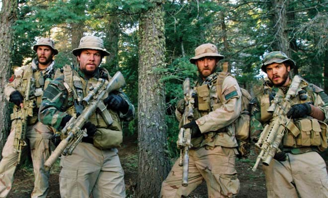 Taylor Kitsch, Mark Wahlberg, Ben Foster and Emile Hirsch in Lone Survivor. - PHOTO COURTESY UNIVERSAL PICTURES