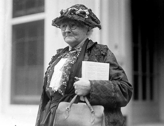 Mary Harris Jones at the White House in 1924. - BY NATIONAL PHOTO COMPANY - COURTESY UNITED STATES LIBRARY OF CONGRESS