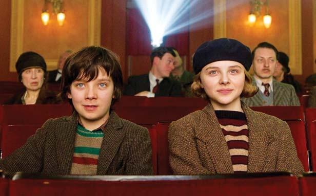 Asa Butterfield as Hugo Cabret snd Chloe Moretz as Isabelle in Hugo.