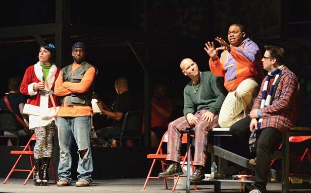 "Benny (Khyel Roberson, center right) and the others perform ""You'll See."" - PHOTO BY DONNA LOUNSBERRY"