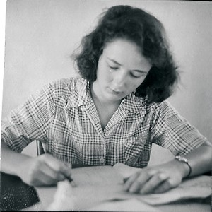 Jackie, writing, at 17.