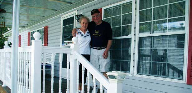 Darlene and Tom Noreuil moved into Woodland Acres Mobile Home Park, 3500 N. Dirksen Pkwy., in 2004. The couple joined other residents in attempting to form a neighborhood watch association to cut down on area crime. - PHOTO BY AMANDA ROBERT