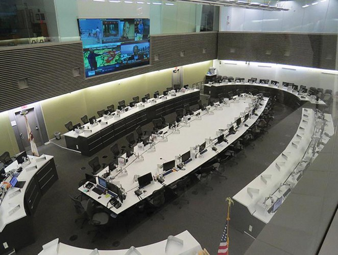 Inside the State Emergency Operations Center.
