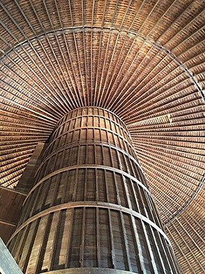 The barn's interior silo could hold 400 tons of corn. - PHOTO BY CINDY LADAGE