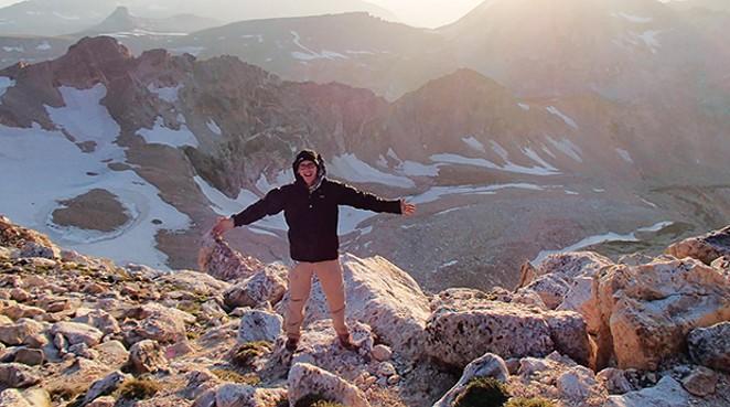 Joe Miller climbs the Grand Tetons as part of his long-distance training.