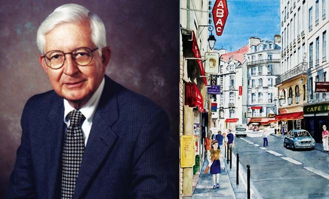 Dr. David Sumner of Springfield was a renowned surgeon, academic and artist. One of his paintings, at right, depicts the Rue Dauphine, a well-known street in  Paris, France.