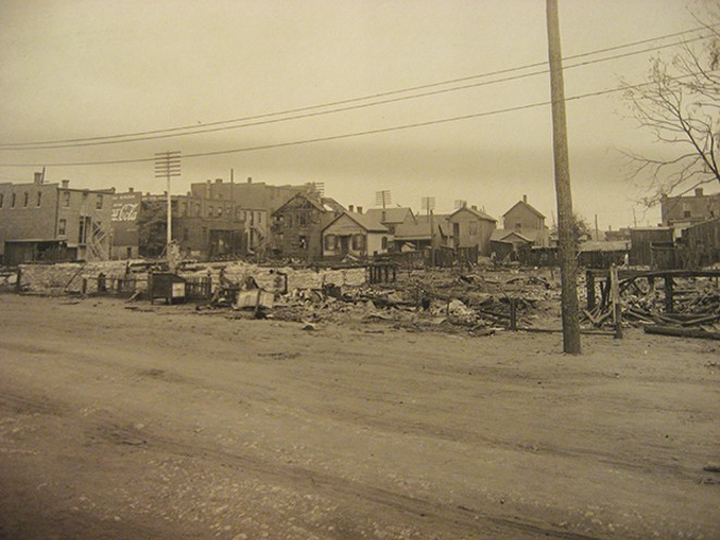 Third Street and Missouri Avenue after the 1917 riot. - PHOTO COURTESY OF S. PFEIFER & SIUE