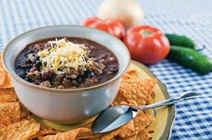 Black bean chilli. - PHOTO BY NURI VALLBONA/TNS