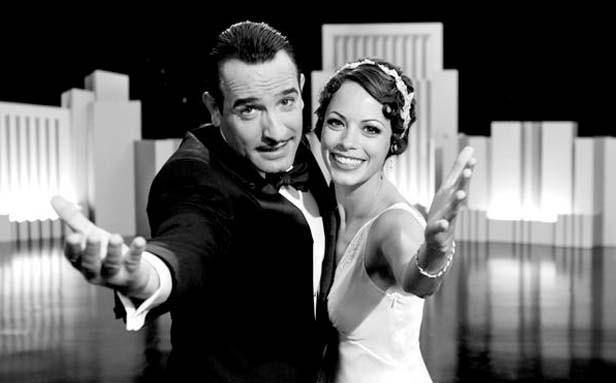 Jean Dujardin and Bérénice Bejo as George Valentin and Peppy Miller in The Artist.