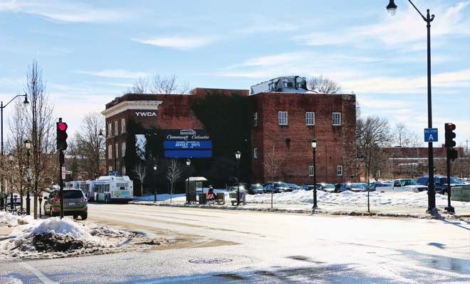 The downtown block on which stands the old YWCA and little else could become another TIF district. Would that rob Springfield schools, or support them in the long run? - PHOTO BY DAVID HINE