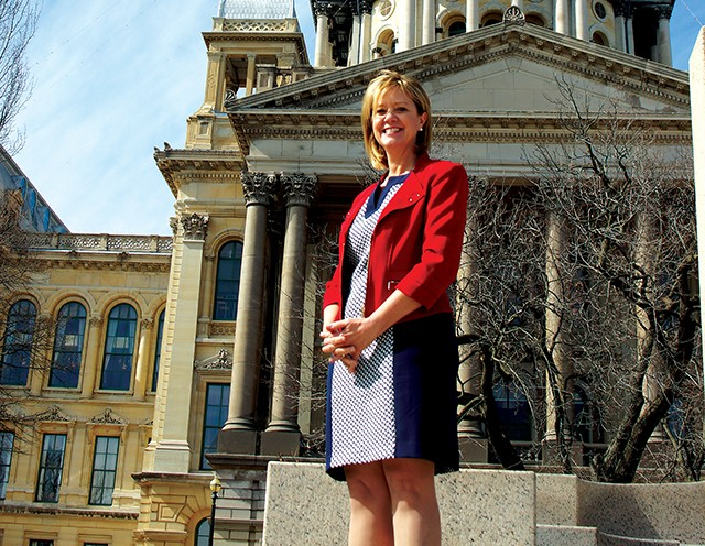 Ste Rep. Jeanne Ives, candidate in the Republican primary for governor, hopes to benefit from conservatives' disillusionment with Gov. Bruce Rauner. - PHOTO BY SCOTT REEDER