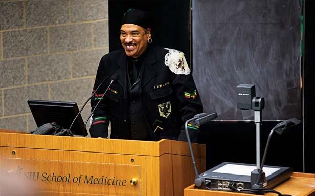 "Kaba Hiawatha Kamene: ""Everybody is an African."" - PHOTO COURTESY SIU SCHOOL OF MEDICINE"