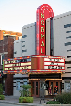 The Normal Theater shows classic movies and independent, foreign and documentary films in the restored 1937 building. The theater also hosts live concerts and comedy shows.