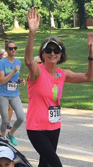Marilyn Kushak enjoying running in the 2016 Women's Distance Festival in Washington Park - PHOTO COURTESY OF MARILYN KUSHAK