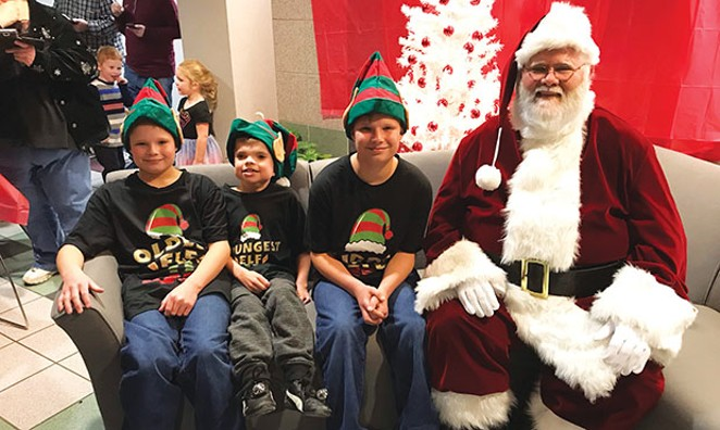 The April 27 fundraiser helps to support events like this 2018 Sensory Santa, which offers autistic children the opportunity to enjoy a visit with Santa in a calm, sensory-friendly environment.