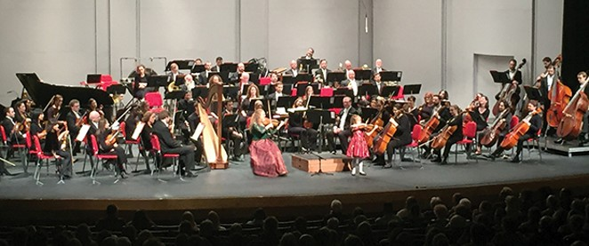 Violinist Rachel Barton Pine brought her seven-year-old daughter, Sylvia, on stage for a crowd-pleasing duet. - PHOTO COURTESY ILLINOIS SYMPHONY ORCHESTRA