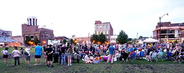 Hundreds gathered on the Y Block last week to hear the Skatalites. - PHOTO BY LEE MILNER