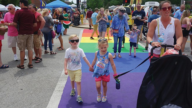 Folks of all ages enjoyed the weather and  festivities at last Saturday's PrideFest. - PHOTO BY BRUCE RUSHTON