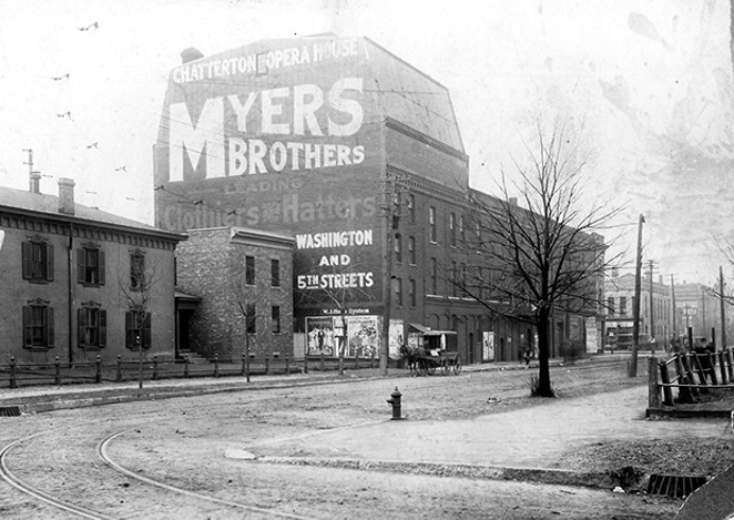 Chatterton's Opera House, on the southeast corner of Sixth and Jefferson, entertained Springfield for 45 years, from 1879 to 1924. - COURTESY SANGAMON VALLEY COLLECTION, LINCOLN LIBRARY
