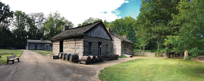 Henry Onstot Cooper Shop & House at Lincoln's New Salem. - PHOTO BY JAMES BENGFORT