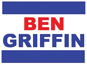 Ben Griffin, a fake candidate with phony signs, proved popular among voters in an experiment designed to test the effectiveness of campaign yard signs. - IMAGE COURTESY OF CINDY D. KAM AND ELIZABETH ZECHMEISTER.