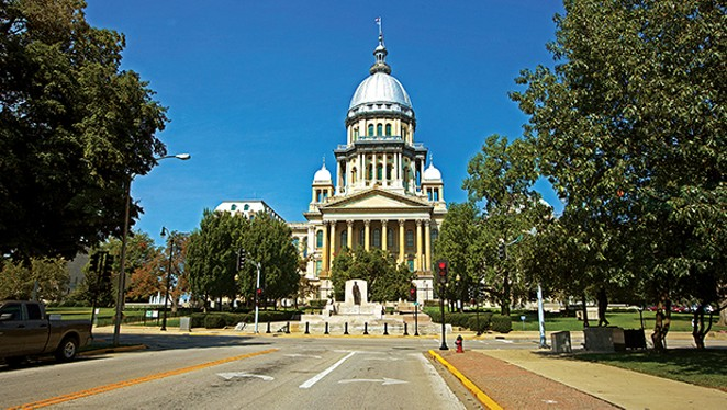 Illinois State Capitol houses the executive and legislative branches of the Illinois government.