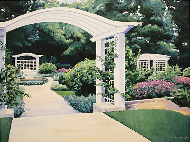 Eli Lily Garden, c. 1985 by Mary Ellen Strack, is one of the many works on display from the first 10 years of the Women's Art Alliance.