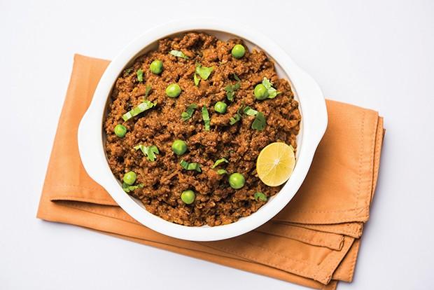 Keema with peas.