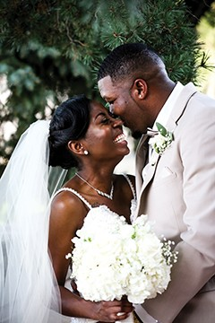 Triston and Sylvia Baltimore held their reception at Poe's Catering on the Hill. - PHOTO COURTESY HJS PHOTOGRAPHY