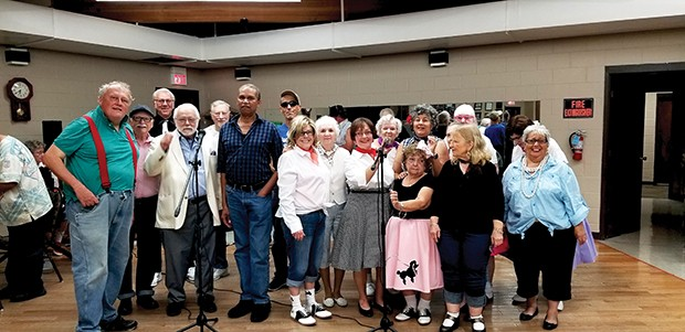 The Mature Mob chorus. - PHOTO BY RUTHIE GORSEK.