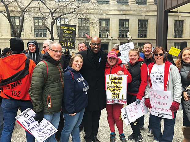 Raoul at Working People's Day of Action in Chicago. - COURTESY OF RAOUL FOR ATTORNEY GENERAL