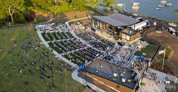 Plans for the 4,000-seat outdoor concert space had stalled until Decatur resident Howard Buffett said he would pay for it. - PHOTO COURTESY DEVON LAKESHORE AMPHITHEATER