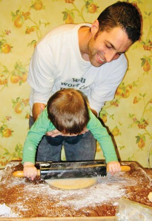 Jeremy and Desmond (on the rolling pin) Venturini