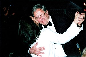 Dancing with his wife, Judith, his partner for 25 years.