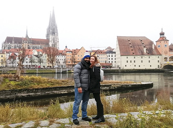 Nabih and his wife, Alaina Beaird, on a visit to Germany in 2019. - PHOTO COURTESY NABIH ELHAJJ
