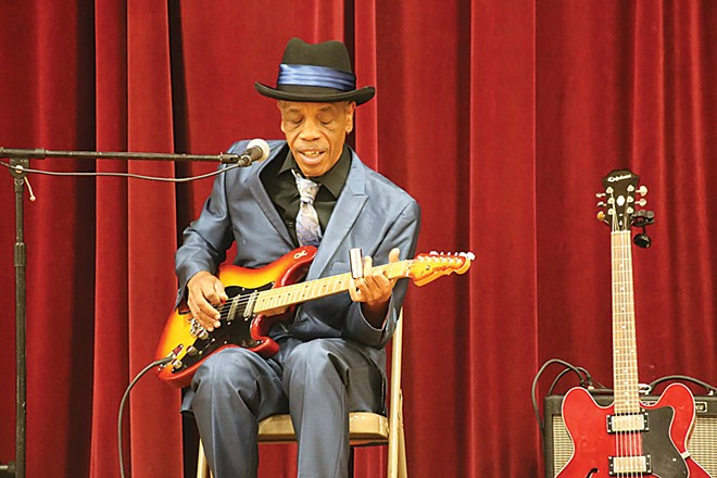 James Armstrong at Dubois Elementary School in Springfield. - PHOTO COURTESY MICHAEL GOZA / ILLINOIS CENTRAL BLUES CLUB