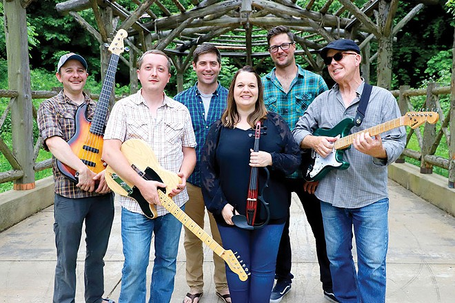 Skibbereen performs their self-styled Celtic music at 'QLZ's Kegs N' Eggs pre-parade party from 8 to 10, Saturday morning at DH Brown's.