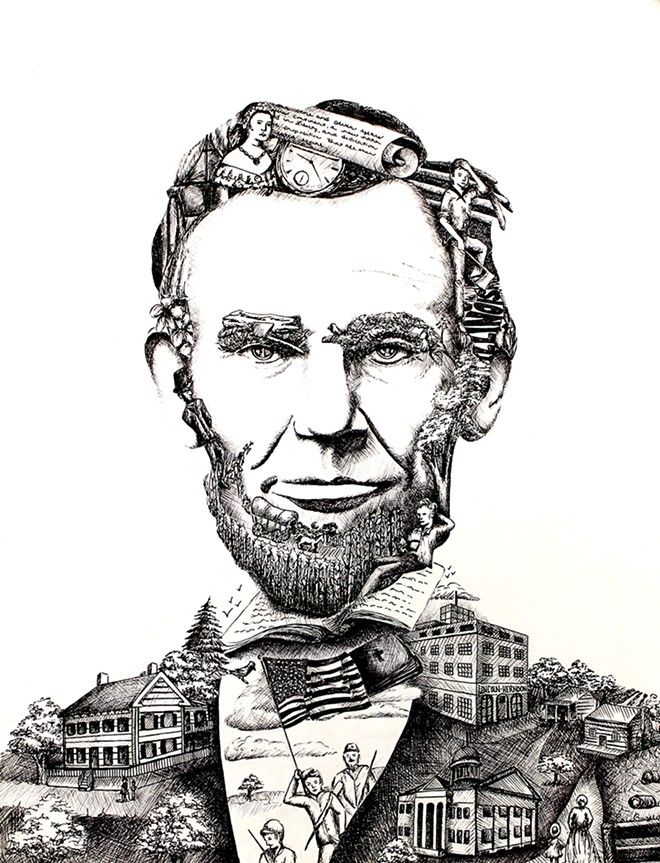"Second place – ""Lincoln in Illinois"" by Erin Gonzalez"