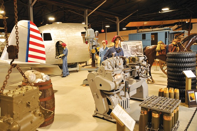 The newly expanded Indiana Military Museum includes a special display on Rosie the Riveter, celebrating women's role in World War II. The Vincennes, Indiana, museum, recently added a 22,000-square-foot addition with life-size dioramas highlighting World War I to more recent conflicts. - PHOTO COURTESY OF THE VINCENNES/KNOX COUNTY VISITORS AND TOURISM BUREAU.