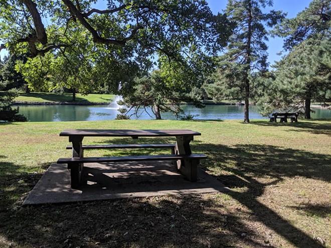 a scene from Washington Park in Springfield - SEVERYN BEEKMAN