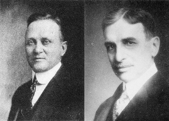 Dr. Albert E. Campbell became health officer for the city of Springfield about a month before the flu epidemic. - Right: Dr. C. St. Clair Drake, Illinois director of public health. - PHOTO COURTESY SANGAMON VALLEY COLLECTION