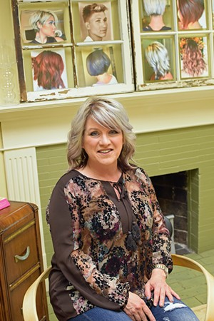 Denise Kerr, owner Who Does Your Hair Styling Salon - PHOTO BY DAVID BLANCHETTE.