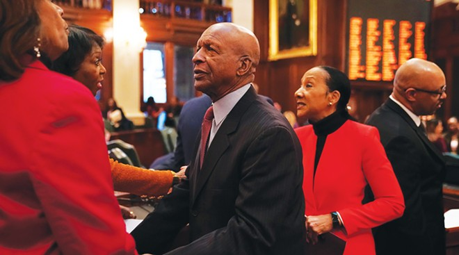 Despite pleading guilty in 1991 to embezzling more then $233,000 from Southern Illinois University and failing to repay the money, Candace Wanzo (not pictured) was hired as a private secretary in 1999, shortly after Jesse White was first elected. The inspector general's office discovered numerous improprieties with her office three years ago and informed Wanzo that she was facing termination, but she was allowed to resign after spending a year on paid leave during the investigation. - PHOTO BY E. JASON WAMBSGANS / CHICAGO TRIBUNE