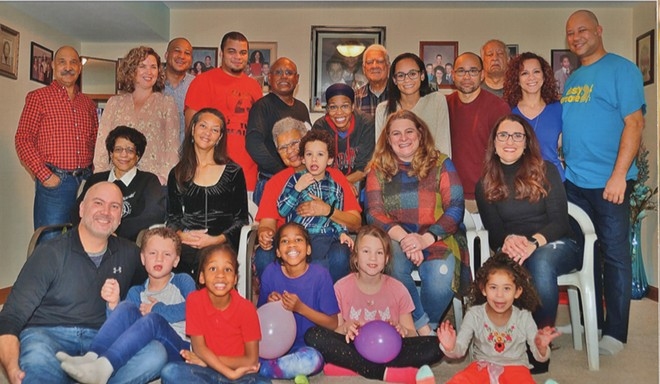 Thanksgiving 2018 with 23 members of the extended Clay family at Nell's home in Springfield. - PHOTO COURTESY NELL CLAY